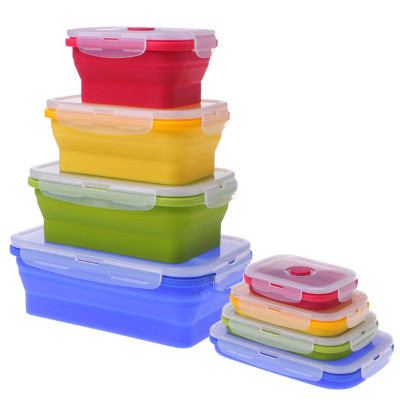 Various Capacity Silicone Food Box, Useful Collapsible Container, Storage Box Foldable