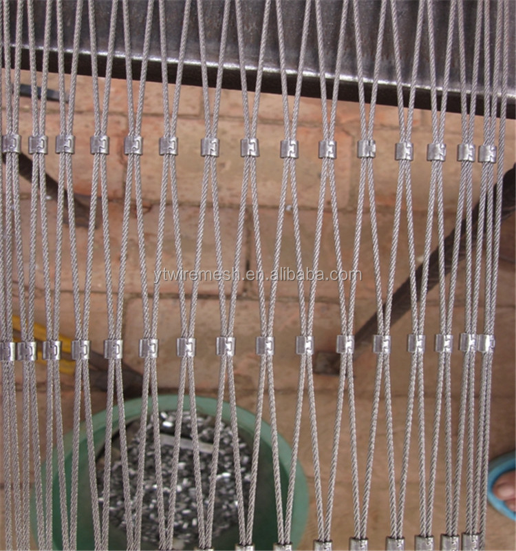 Focus On Handrail Stainless Steel Wire Rope Net Ten Years