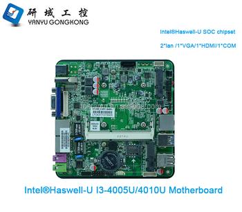 Fanless Dual Gigabit Ethernet Intel Haswell-u I3 I5 I7 Cpu Dc Nano  Motherboard Itx For Intel Nuc Mini Pc 12v Power Supply - Buy Nano  Motherboard
