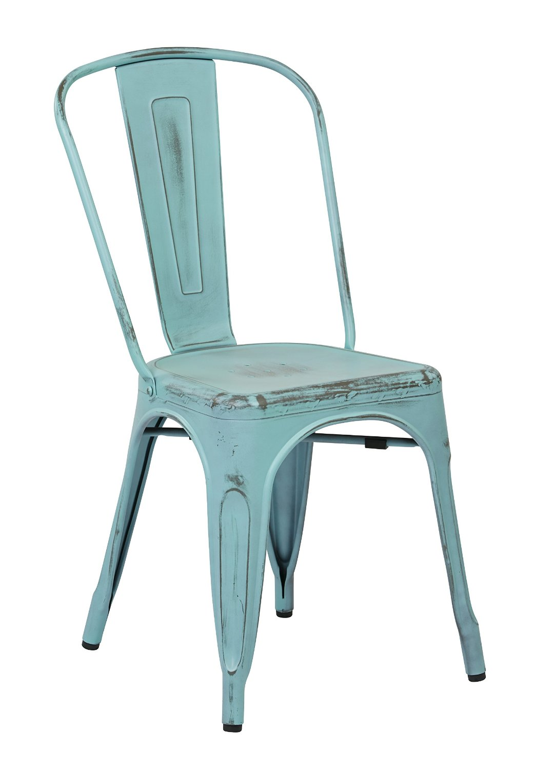 Get Quotations · Office Star Bristow Metal Seat and Back Armless Chair,  Antique Sky Blue, 4- - Cheap Antique Chair Prices, Find Antique Chair Prices Deals On Line