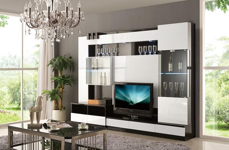 Alta lucida mobili soggiorno design moderno parete tv unità led