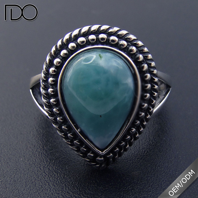Customize top quality larimar nepal rings