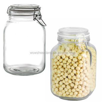 Large 15l Wide Mouth Glass Food Jars Airtight Glass Kitchen Storage