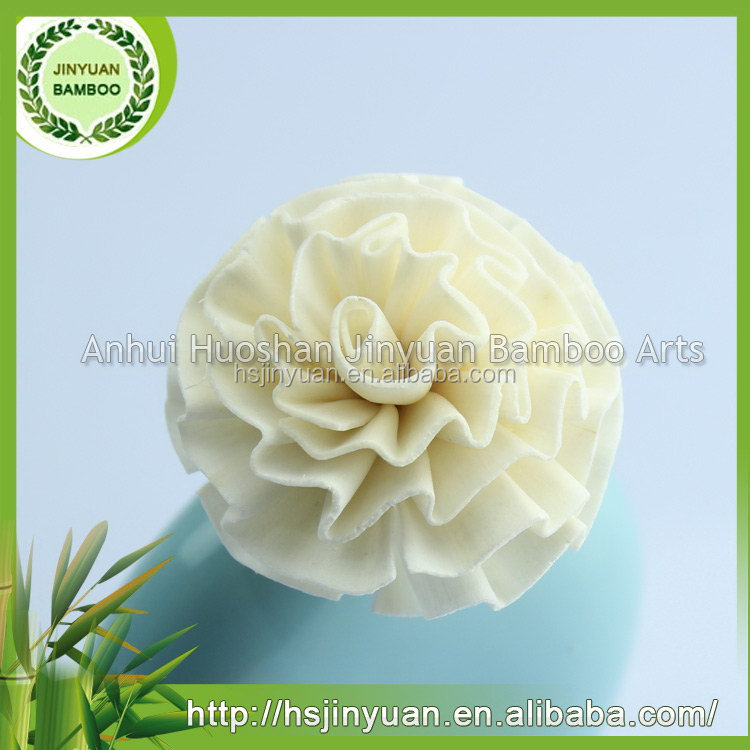 sale high quality handmade white artificial sola wood flower