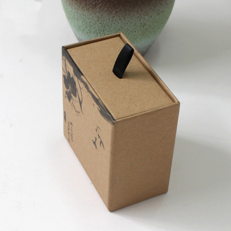 Eco freundliches Kraftpapierfach, das Seifenkasten schiebt