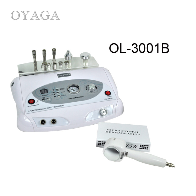 Professional diamond dermabrasion beauty machine with cold & hot hammer & ultrasound function beauty device ol-3001B