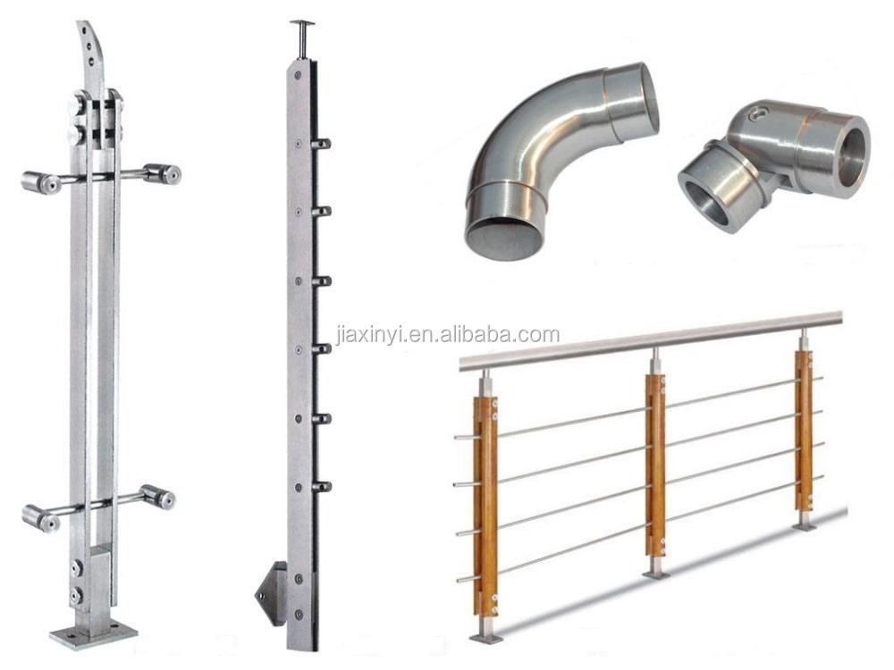 Stainless steel balcony railing handrail bracket handrail for Cloture pour piscine