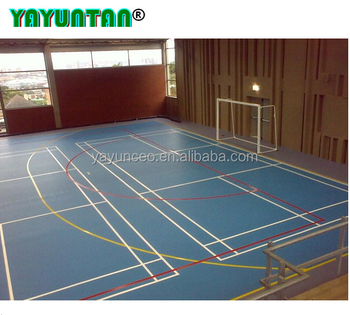 Indoor anti slip futsal sport court flooring material cost for Indoor basketball court price