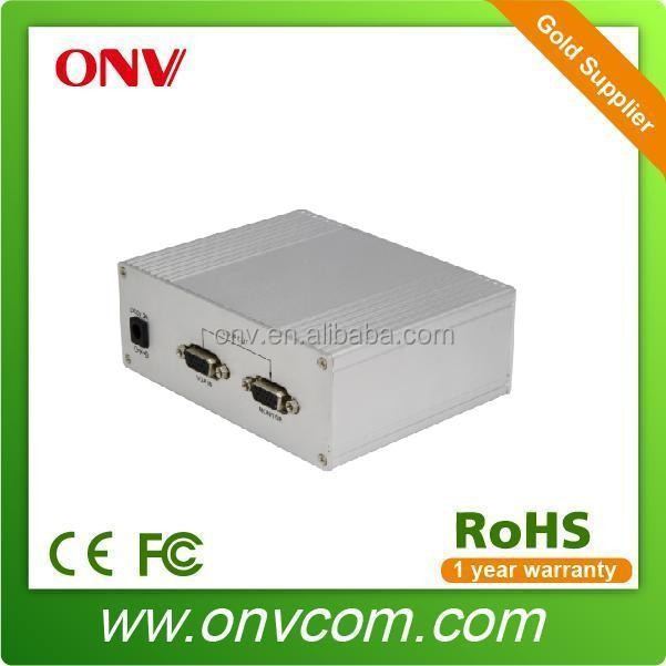 VGA Optical Transceiver , 1CH Audio + Data + Fiber Port. Single Fiber