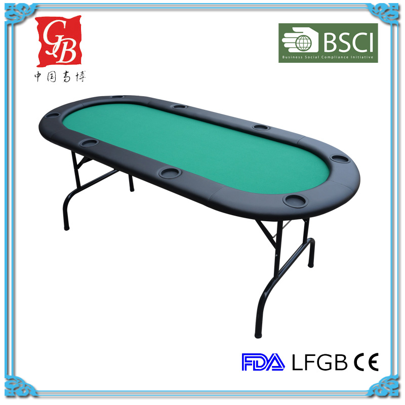 "84"" professional round runway texas holdem poker table"