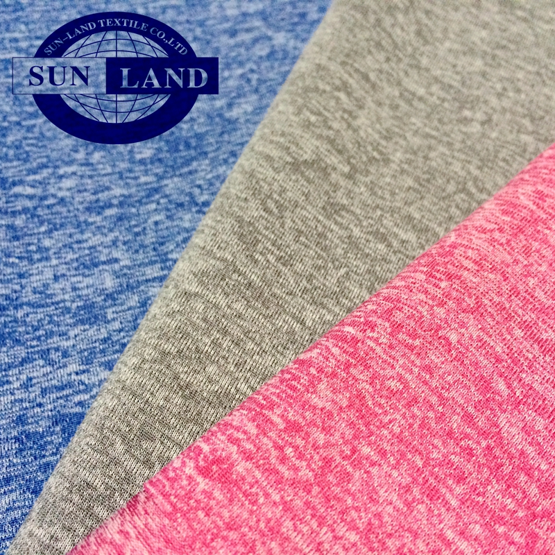 Feel like Cotton soft CD cation polyester melange single jersey knit fabric for sport fashion t-shirt clothing
