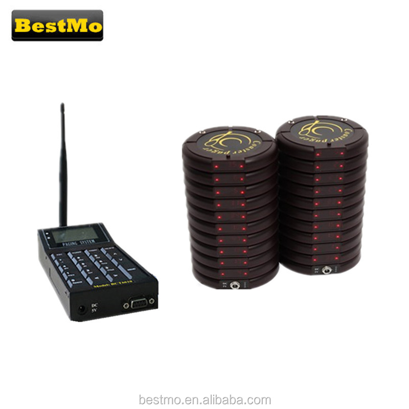 Restaurant Coatser Pagingssysteem 433 mhz Draadloze Pagers Systeem