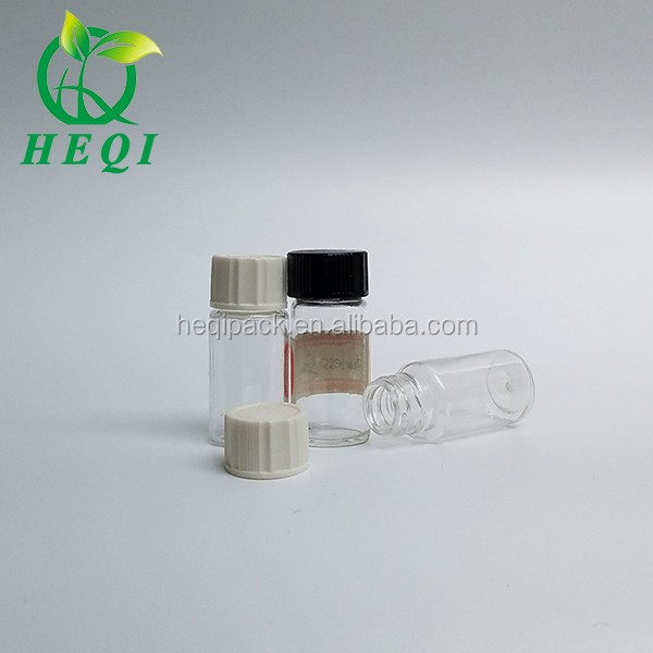 custom Volume/size glass cylinder tube shape anointing oil bottles with bead cap cone