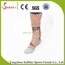 Ankle Brace Basketball Football Foot Compression Sleeve Pads Black elastic Sport Ankle Bandage Single