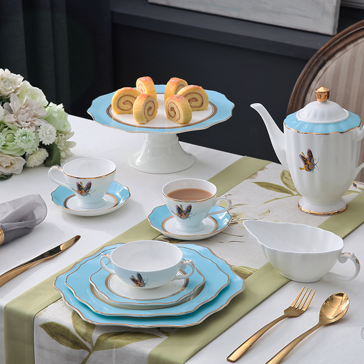 Wholesale Dinner Set Discount Carnival Porcelain Tableware Ceramic luxury dinner set