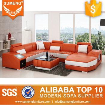 Sumeng Modern Sectional Led Light Leather Sofa With Italian - Buy Led Light  Leather Sofa,Leather Sofa With Italian Leather,Modern Sectional Sofa ...