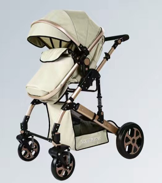 New baby luxury high landscape stroller with comfortable seat kids pram