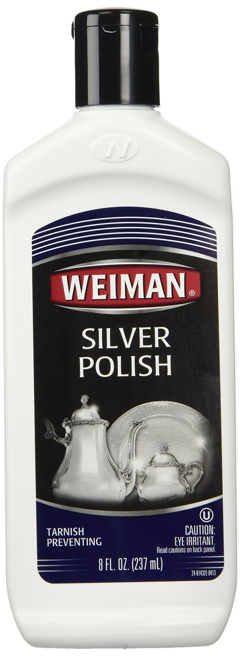 Weiman Silver Polish - Polish Silver, Jewelry, Sterling Silver, Antique Silver, Gold, Brass, Copper and Aluminum - 8 Ounce