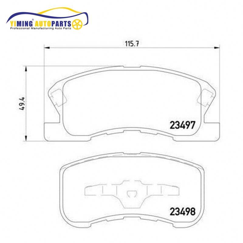 disc brake pad for daihatsu move yrv huali tj6341 xinfu mpv front  115 4/95*49 6*15 3mm 0449197201
