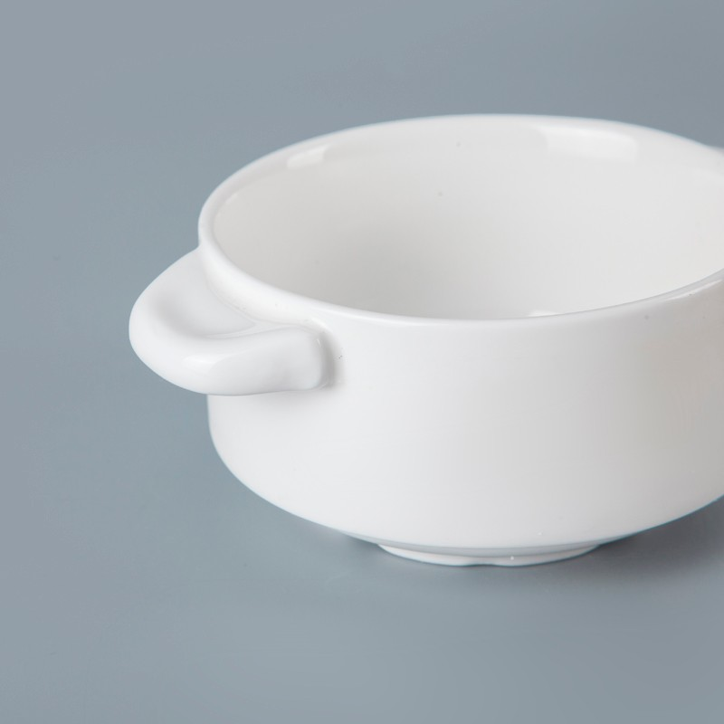 product-Two Eight-Fresh Look Ceramic Tableware For Hotel Handled Soup Cup, Restaurant Hotel Supplies