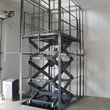 Outdoor Hydraulic Scissor Cargo Lift Elevator For