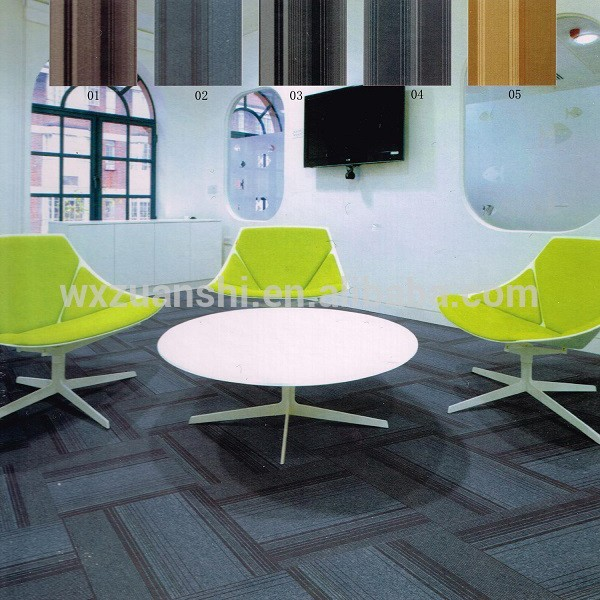 Stripe loop pile meeting room carpet tiles 50x50, brown show room carpet tiles with PVC, commercial carpet in office