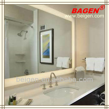 Hotel Building Material Bathroom Mirror With Back Lights,16years ...
