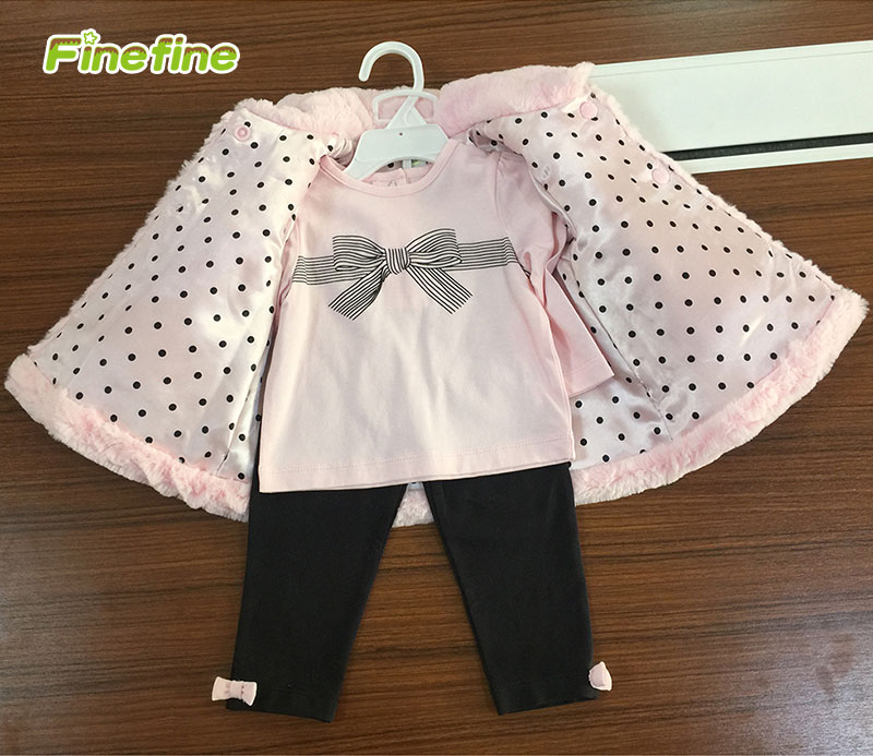 Newest 3 Pieces Baby Children Girl Clothes For Winter