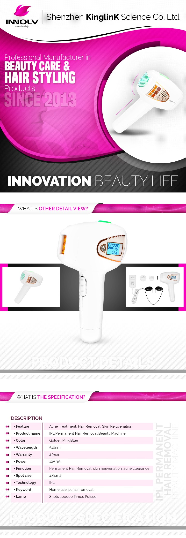CE New patent beauty care Acne clearance laser diodo mini home use ipl shr hair removal