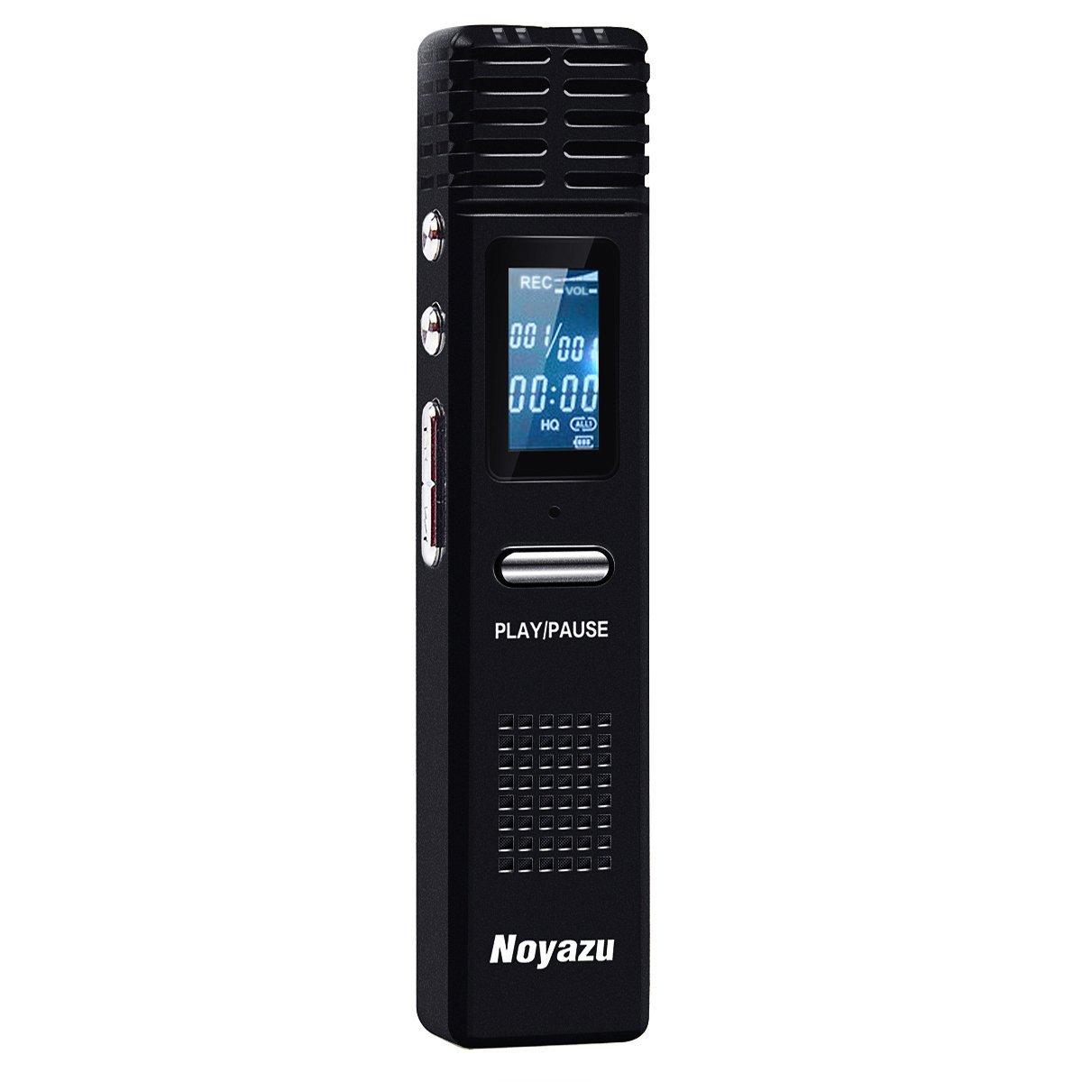 Noyazu X1 HD 8G Digital Voice Recorder Microphone Mp3 Player Flash Drive (Black)