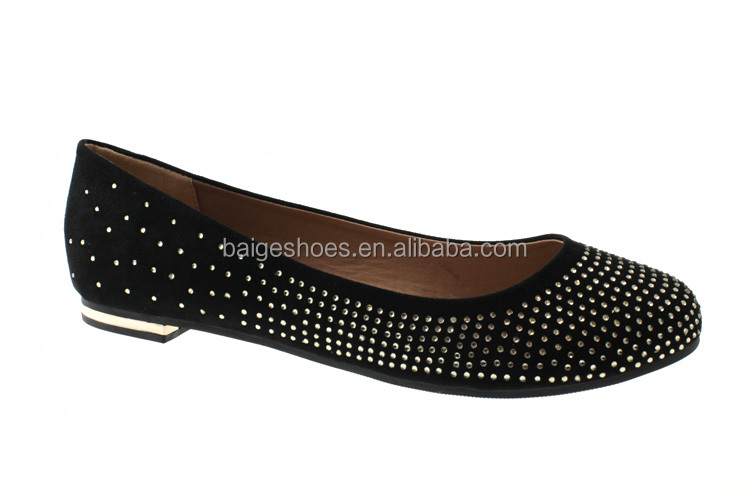 hot sale new design laser flat shoes and flat hard sole shoes