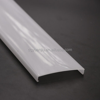 Yuanjiu Professional manufacturer extrusion profile plastic diffuser cover for led strip