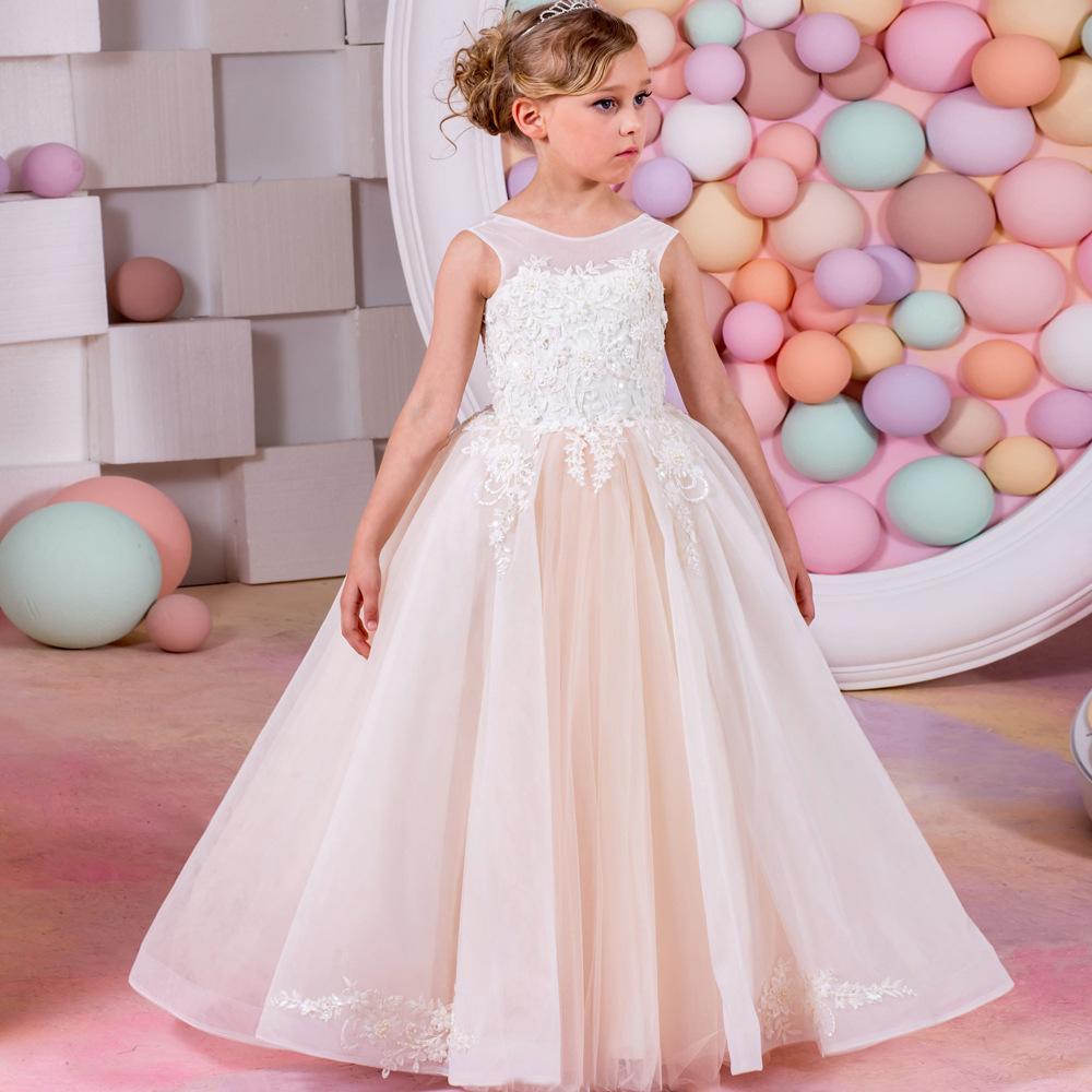 Kinder Party Kleider Baby Mädchen Kleider Für Hochzeiten Kleid ...