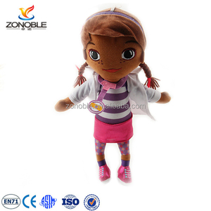 Factory OEM plush american black doll toy for kids cute soft stuffed plush african doll