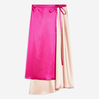 Custom Brand Fashionable and Elegant Matured Women Wearing Mid Waist Zip Up Short Silk Sari Color Blended Top Quality Wrap Skirt