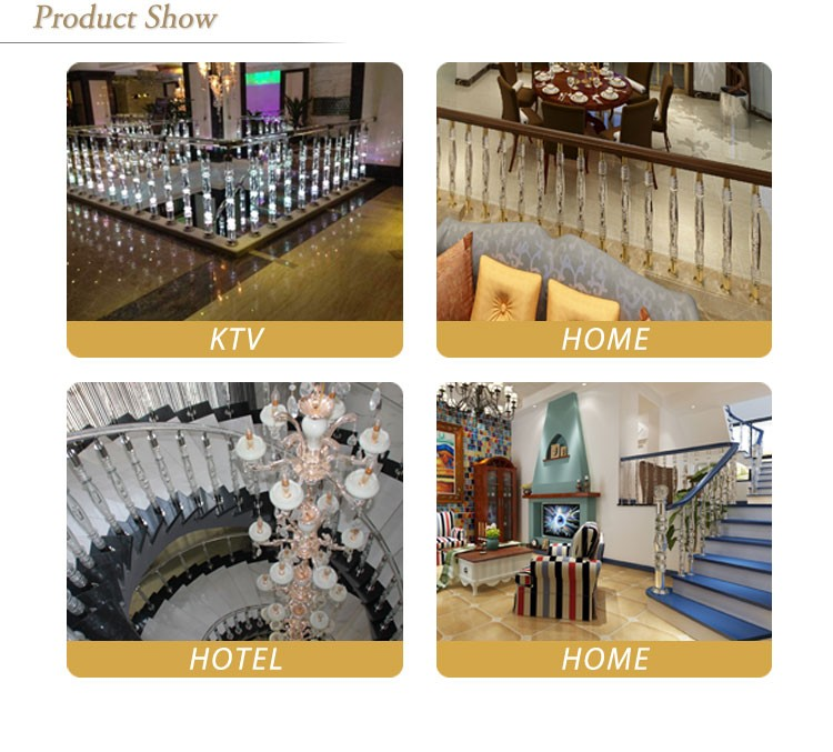 Customized acrylic stair raling crystal ball for decoration
