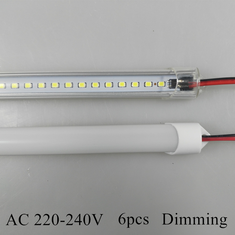 220V led rigid bar 2835 144 LED White Rigid Hard Light Bar Strip 1m high voltage