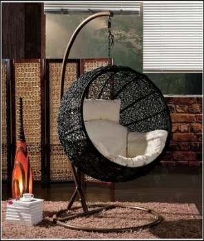 Swinging Rattan Chair/egg Swing Chair/ Hanging Glass Chair Indoor Outdoor  Chair Cheap Rattan