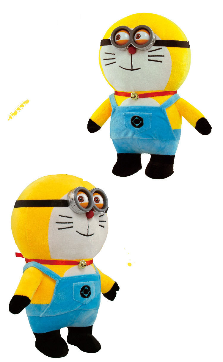 New Arrival despicable me 2 minions toy cute yellow despicable me movie plush toy minion soft brinquedo Stuffed Toys Dolls Kids