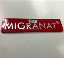 dongguan high quality product red metal signs