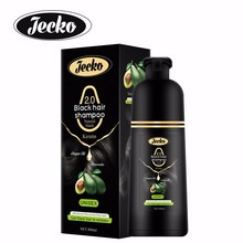 Jecko wholesale product fast magic black hair color shampoo with 400ml