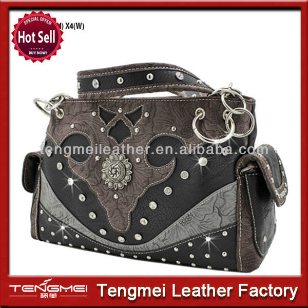 High quality leather handbag pu synthetic leather for handbags