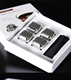 4pcs color box packing whisky stainless steel ice cube