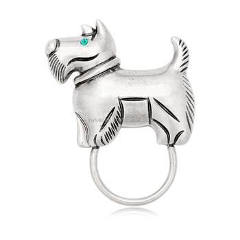2eed42b3f2b6 Cute dog magnetic eyeglass clip holder white K custom animal eyeglass  holders for kids
