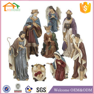 Factory Custom made home decoration polyresin nativity sets indoor