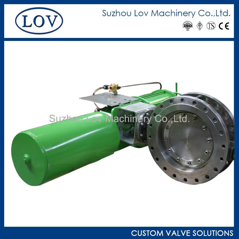 Super Long Usage Life Triple Offset Pneumatic Operated Butterfly Valve