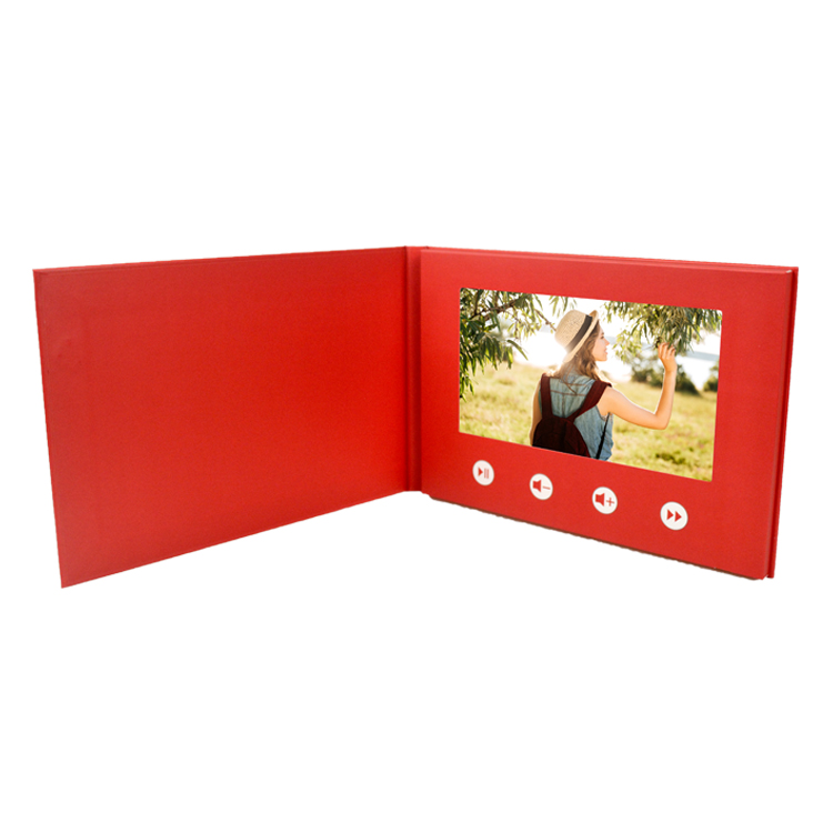 Bulk custom ad audio christmas invitation video greeting brochure hard cover video card for wedding