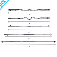 SJ-111 Factory directly sale 1.8m chromed barbell bar for weight lifting
