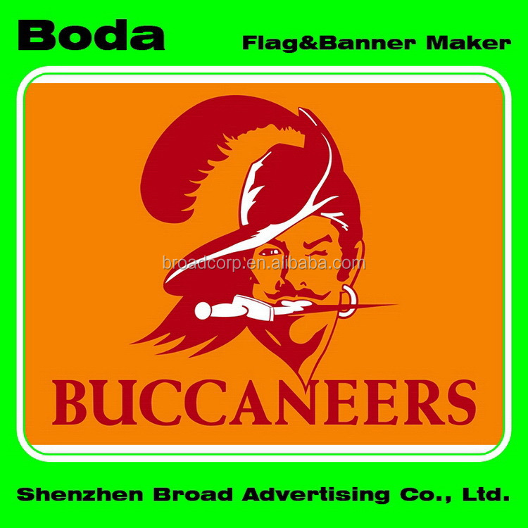 4x6inch Polyester Nfl Tampa Bay Buccaneers Hand Waving Flag