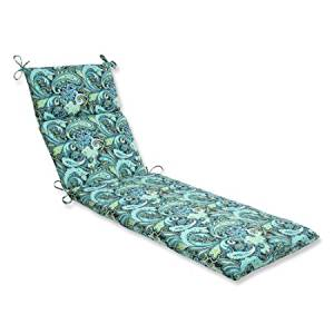 Pillow Perfect Outdoor/ Indoor Pretty Paisley Navy Chaise Lounge Cushion